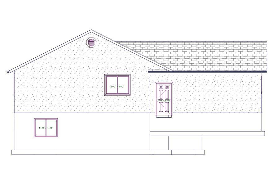 187-1026: Home Plan Left Elevation