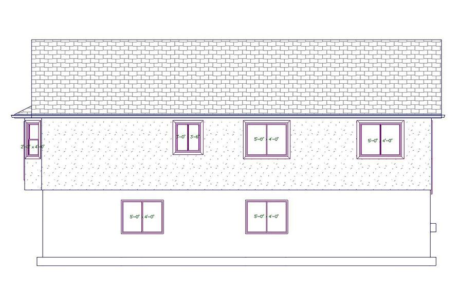 187-1026: Home Plan Rear Elevation