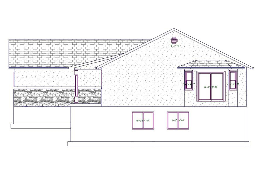187-1026: Home Plan Right Elevation