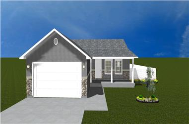 5-Bedroom, 1462 Sq Ft Traditional Home Plan - 187-1026 - Main Exterior