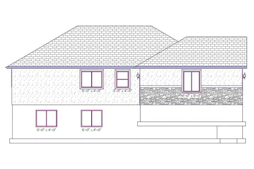 187-1027: Home Plan Left Elevation