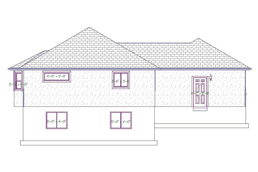 187-1027: Home Plan Rear Elevation