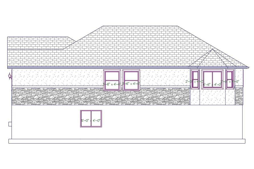 187-1027: Home Plan Right Elevation