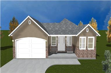 5-Bedroom, 1570 Sq Ft Traditional Home Plan - 187-1027 - Main Exterior