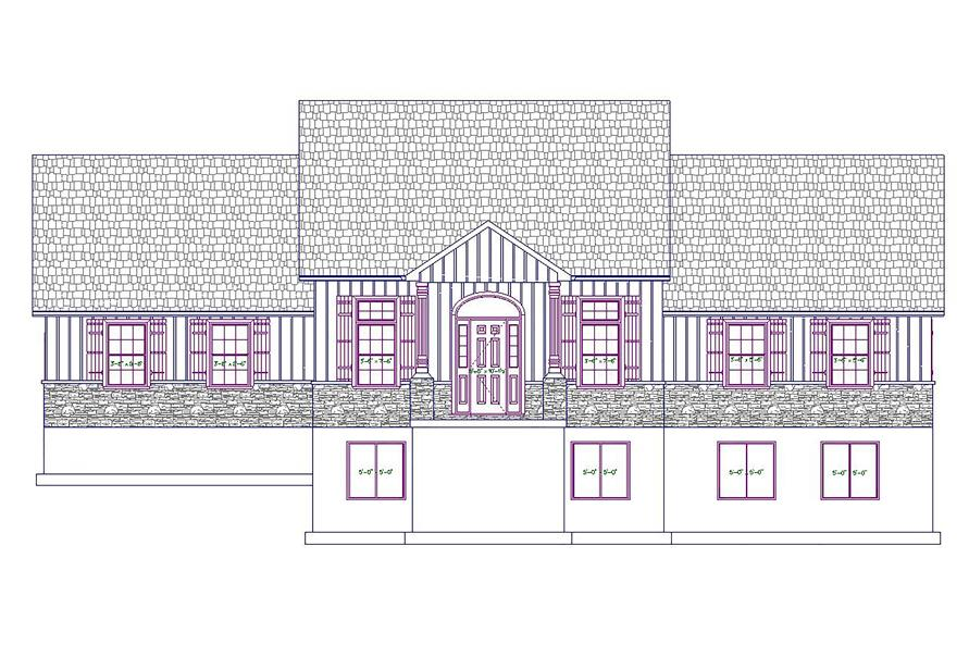187-1028: Home Plan Front Elevation