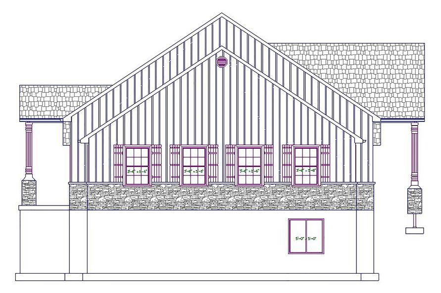 187-1028: Home Plan Right Elevation