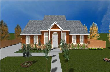 4-Bedroom, 2155 Sq Ft Traditional House Plan - 187-1028 - Front Exterior