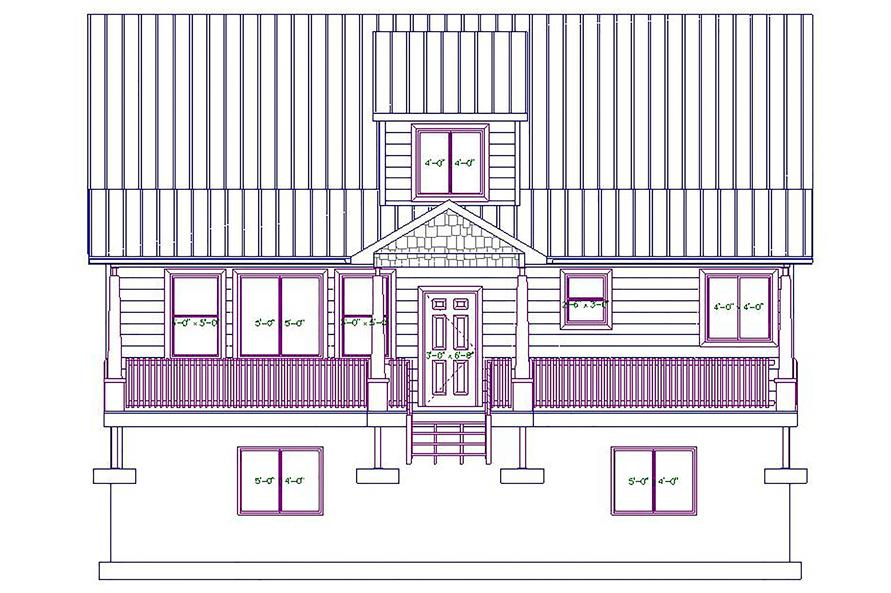 187-1029: Home Plan Front Elevation