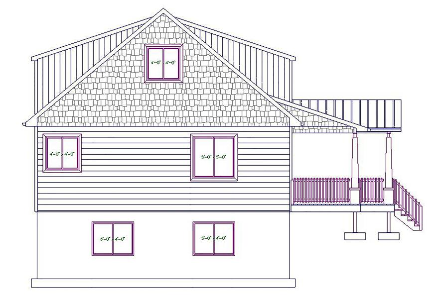 187-1029: Home Plan Left Elevation