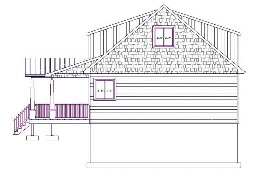 187-1029: Home Plan Right Elevation