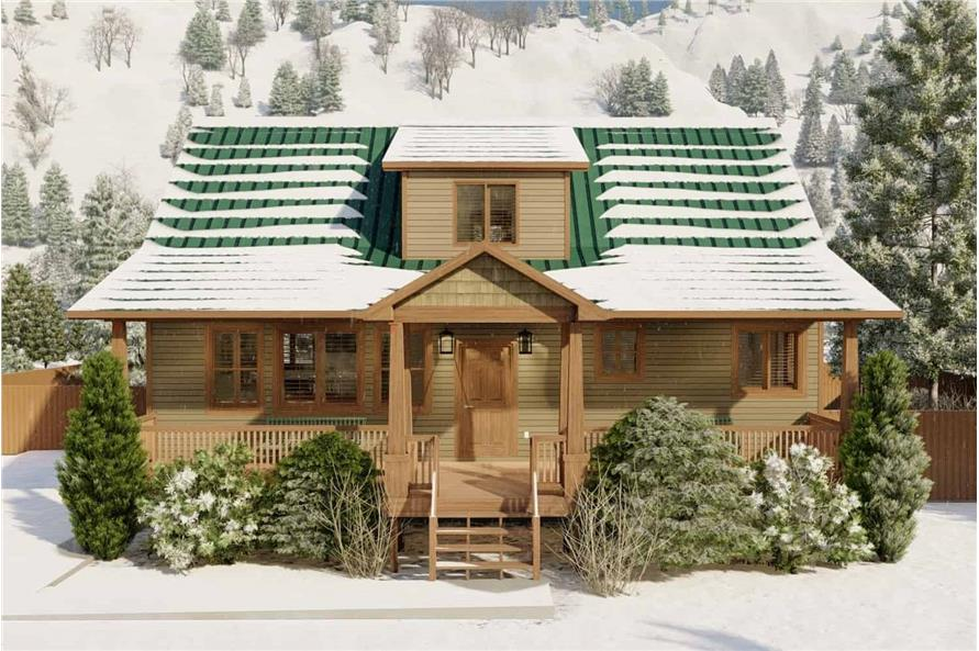Front View of this 5-Bedroom,1868 Sq Ft Plan -187-1029