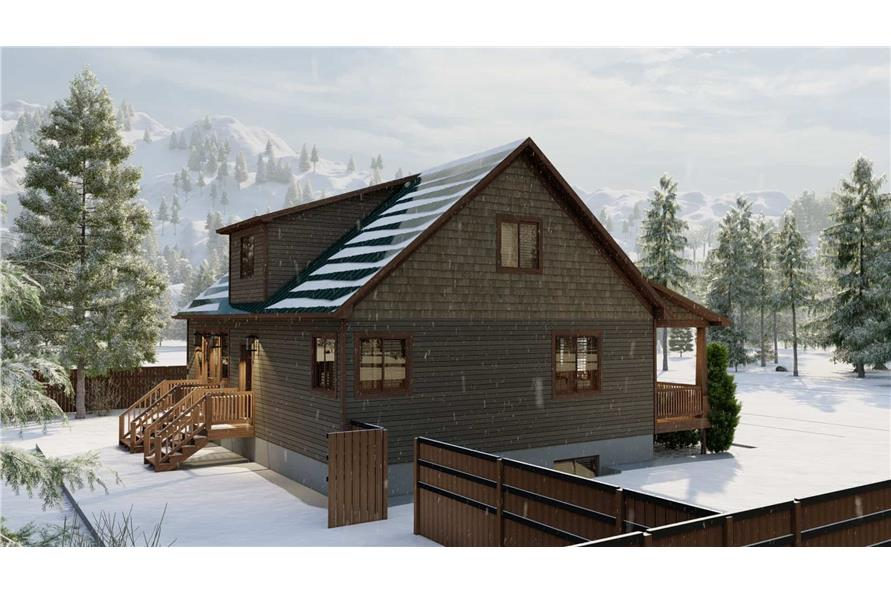 Side View of this 5-Bedroom,1868 Sq Ft Plan -187-1029