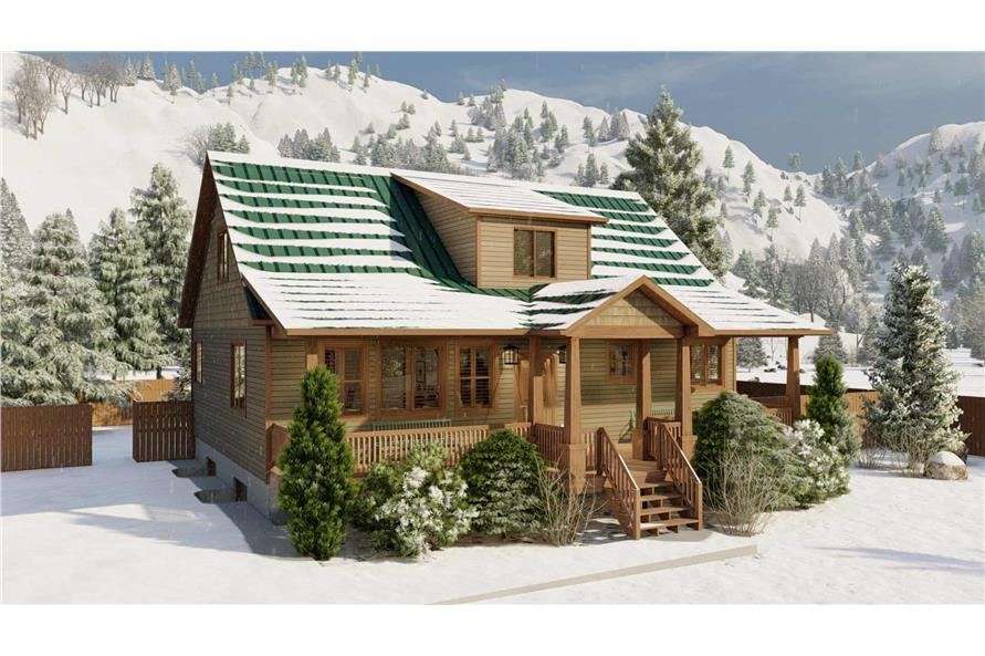 Left View of this 5-Bedroom,1868 Sq Ft Plan -187-1029