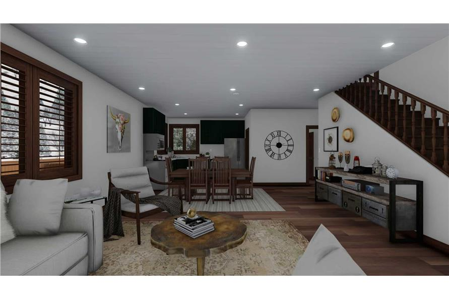 Family Room of this 5-Bedroom,1868 Sq Ft Plan -187-1029