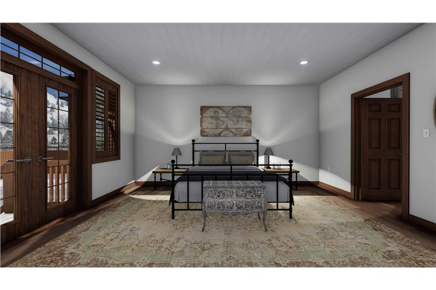 Master Bedroom of this 5-Bedroom,1868 Sq Ft Plan -187-1029