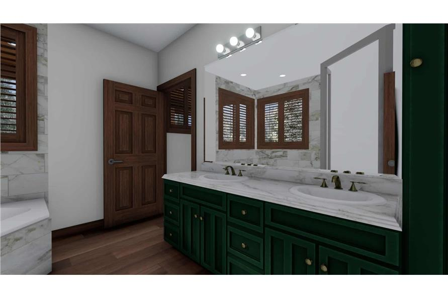 Master Bathroom of this 5-Bedroom,1868 Sq Ft Plan -187-1029