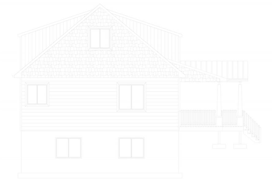 Home Plan Left Elevation of this 5-Bedroom,1868 Sq Ft Plan -187-1029