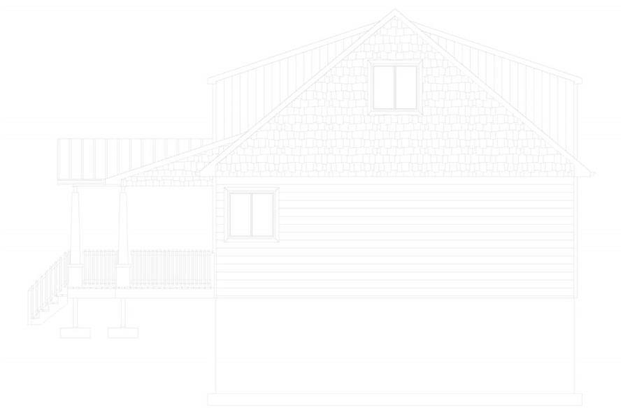Home Plan Right Elevation of this 5-Bedroom,1868 Sq Ft Plan -187-1029
