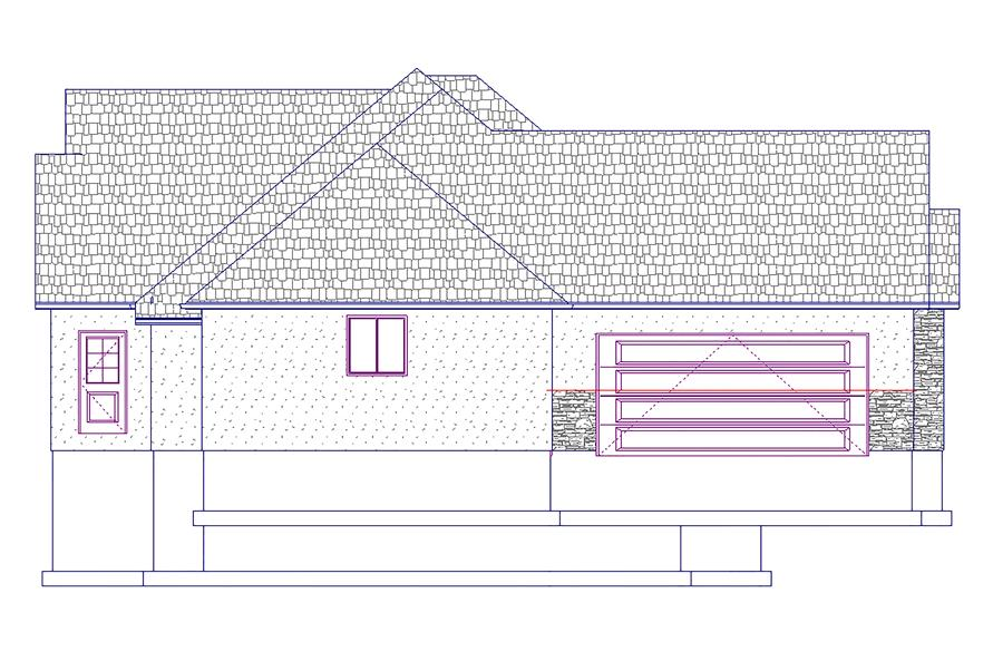 187-1031: Home Plan Left Elevation