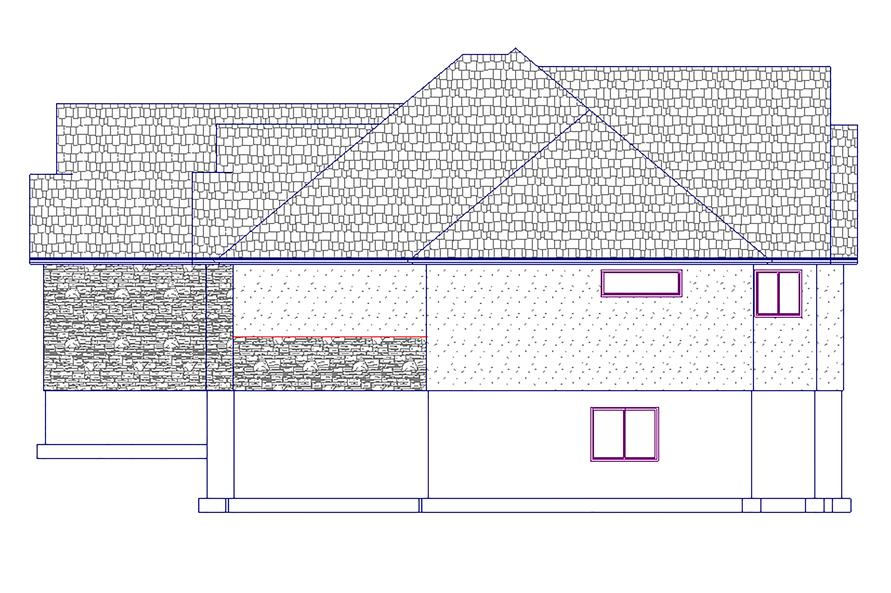 187-1031: Home Plan Right Elevation