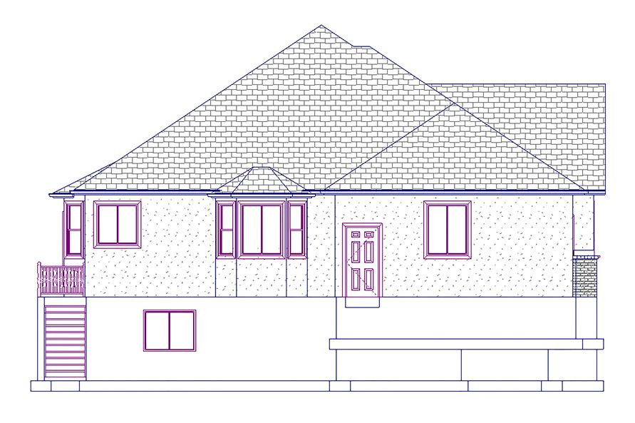 187-1045: Home Plan Left Elevation