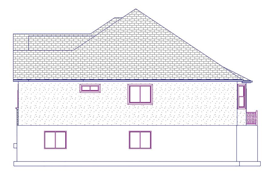 187-1045: Home Plan Right Elevation