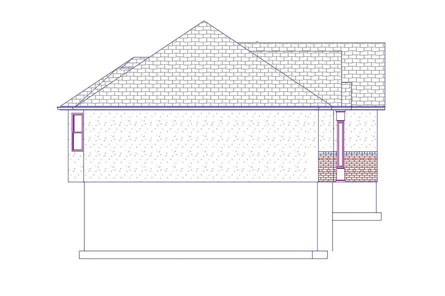 187-1048: Home Plan Left Elevation