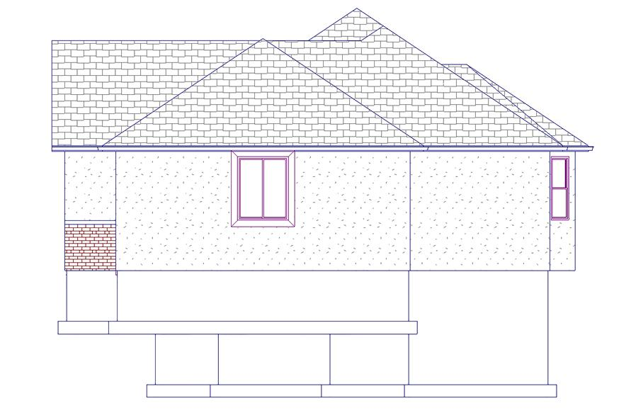 187-1048: Home Plan Right Elevation