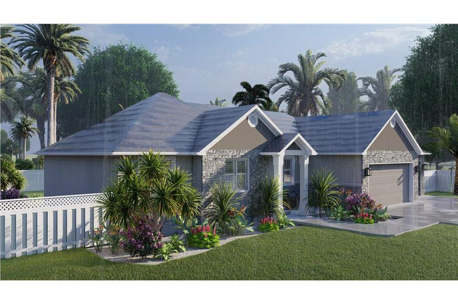 Left View of this 3-Bedroom,1555 Sq Ft Plan -187-1048