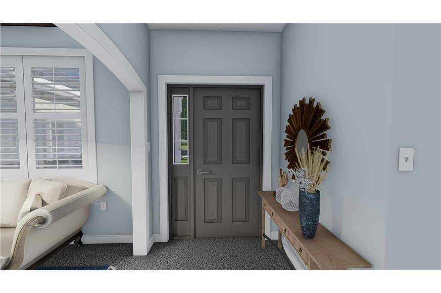 Entry Hall: Foyer of this 3-Bedroom,1555 Sq Ft Plan -187-1048
