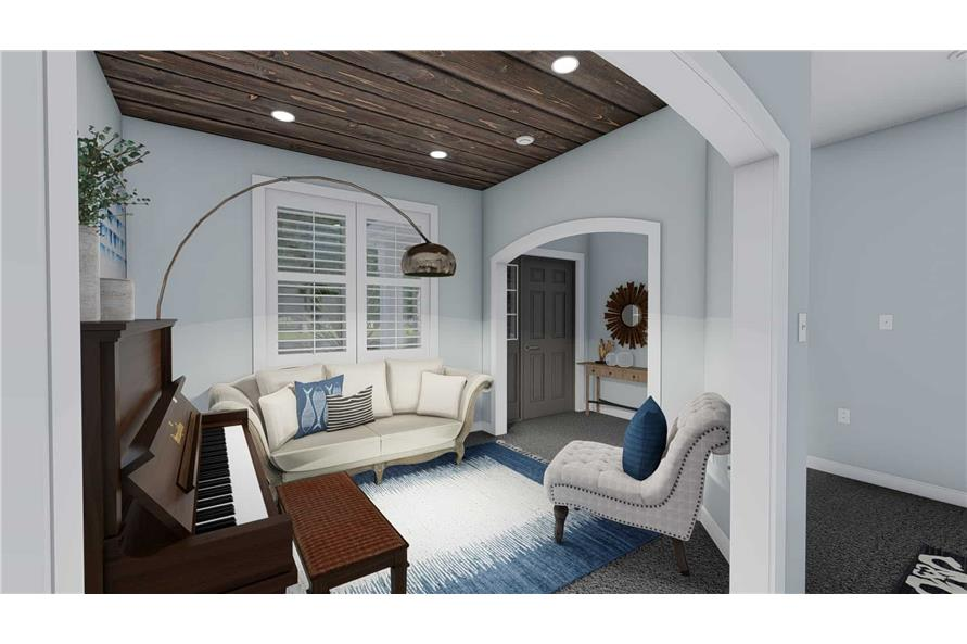 Home Office of this 3-Bedroom,1555 Sq Ft Plan -187-1048