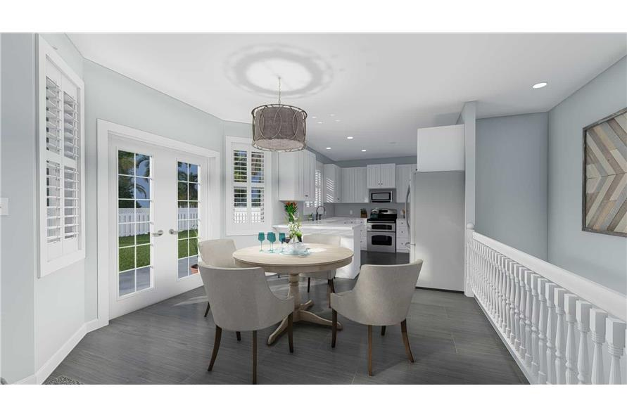 Dining Room of this 3-Bedroom,1555 Sq Ft Plan -187-1048