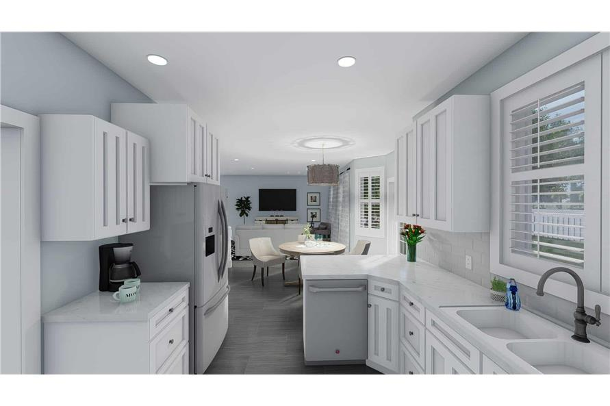 Kitchen of this 3-Bedroom,1555 Sq Ft Plan -187-1048