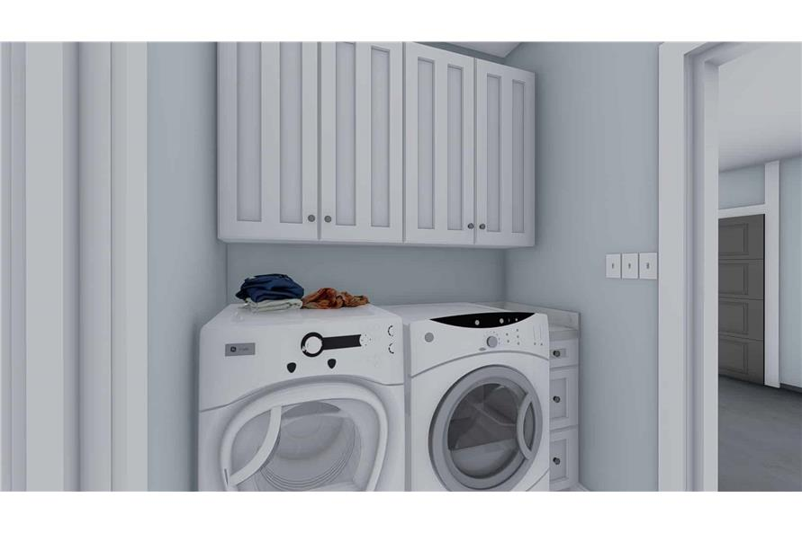 Laundry Room of this 3-Bedroom,1555 Sq Ft Plan -187-1048