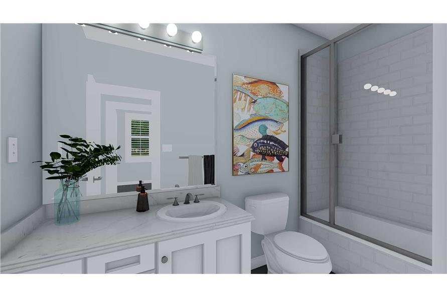 Bathroom of this 3-Bedroom,1555 Sq Ft Plan -187-1048