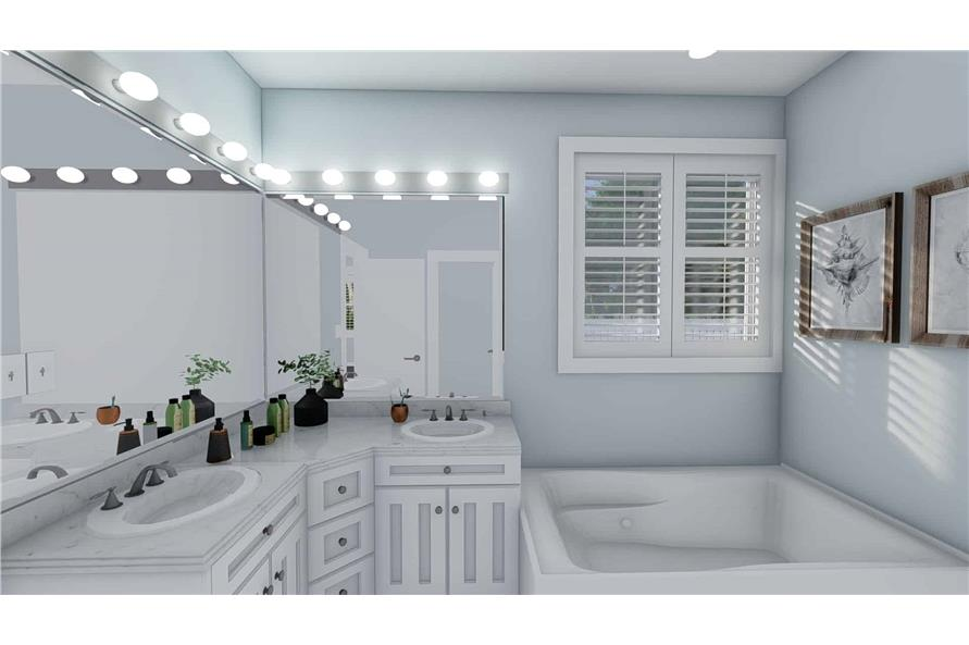 Master Bathroom of this 3-Bedroom,1555 Sq Ft Plan -187-1048