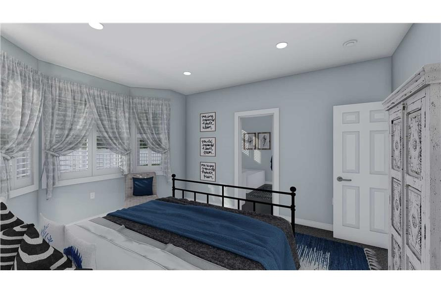 Master Bedroom of this 3-Bedroom,1555 Sq Ft Plan -187-1048