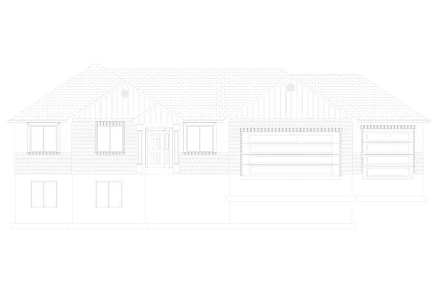 Home Plan Front Elevation of this 5-Bedroom,1555 Sq Ft Plan -187-1048