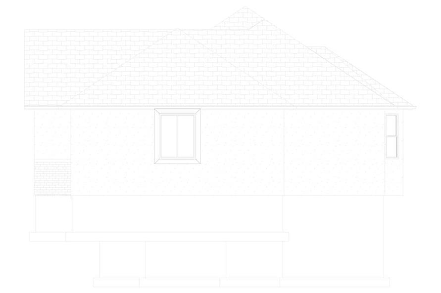 Home Plan Right Elevation of this 5-Bedroom,1555 Sq Ft Plan -187-1048