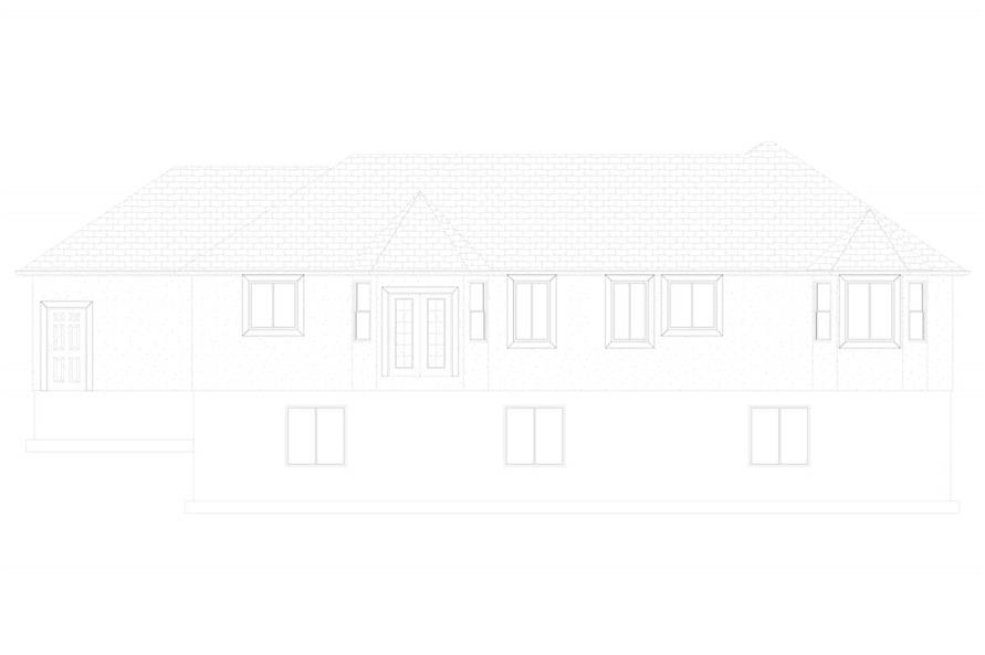 Home Plan Rear Elevation of this 3-Bedroom,1555 Sq Ft Plan -187-1048