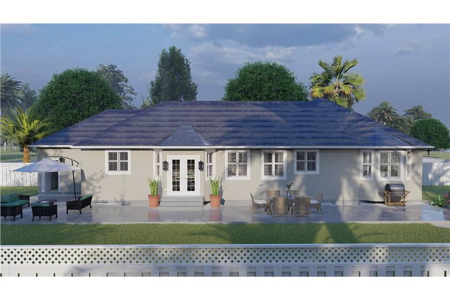 Rear View of this 3-Bedroom,1555 Sq Ft Plan -187-1048