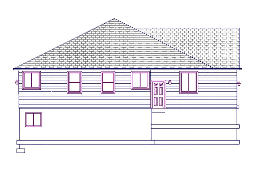 Home Plan Left Elevation of this 5-Bedroom,1875 Sq Ft Plan -187-1055
