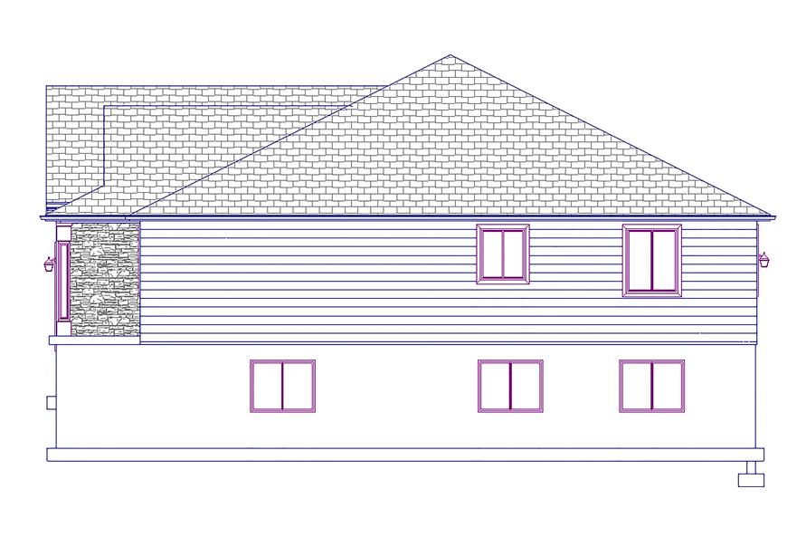 Home Plan Right Elevation of this 5-Bedroom,1875 Sq Ft Plan -187-1055