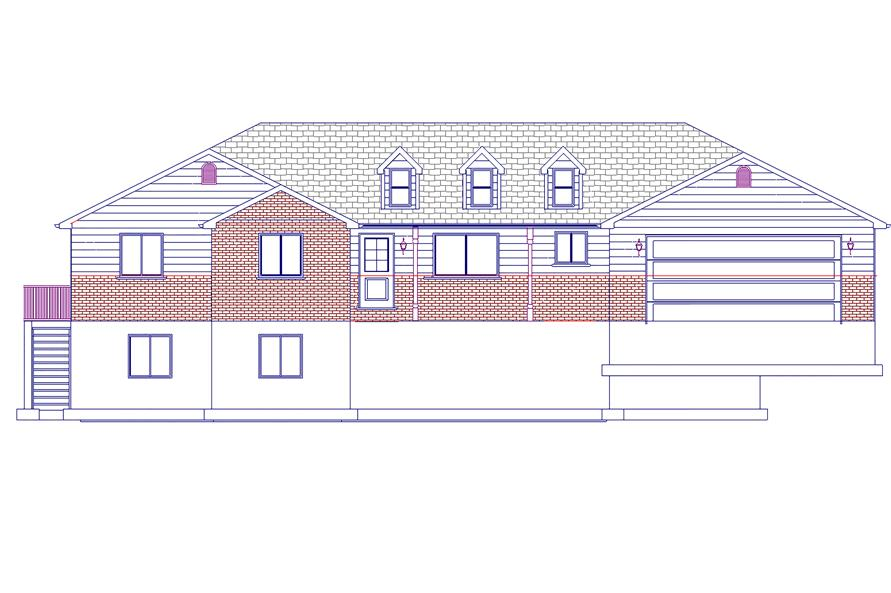 Home Plan Front Elevation of this 5-Bedroom,1861 Sq Ft Plan -187-1063