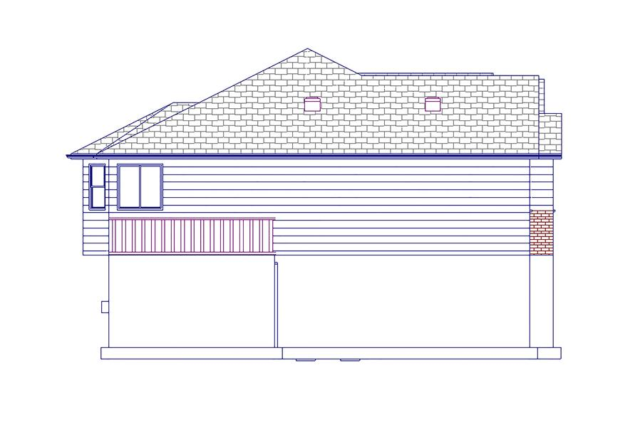 Home Plan Left Elevation of this 5-Bedroom,1861 Sq Ft Plan -187-1063