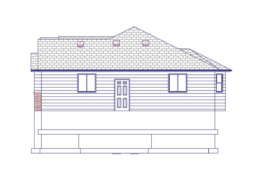 187-1063: Home Plan Right Elevation