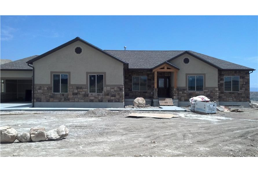 The Plan Collection: Front Elevation of Craftsman style House # 187-1069