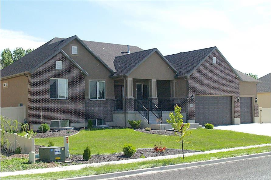 Left Side View of this 3-Bedroom,2085 Sq Ft Plan -187-1072