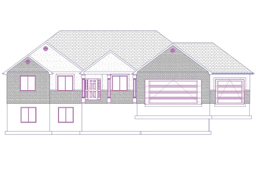 Home Plan Front Elevation of this 6-Bedroom,2085 Sq Ft Plan -187-1072