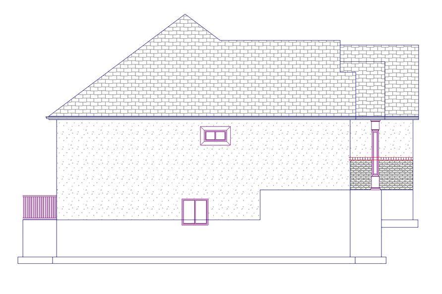 187-1072: Home Plan Left Elevation